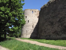 The fortifications of the fortress Izborsk