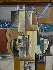 Guitar and Violin. Picasso, Pablo. Oil on canvas. France. About 1912