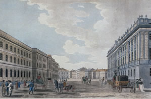 View of the Millionnaya Street and Marble Palace, the second half of the 18th century. Malton, Thomas the Elder