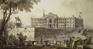 View of the Mikhailovsky Castle, 1800 Giacomo Quarenghi