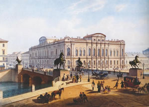 Beloselsky-Belozersky Palace and Anichkov Bridge, 1850s Joseph Charlemagne