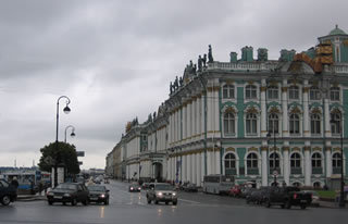 The building of the Hermitage from Palace Embankment